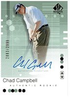 Chad Campbell 2002 SP Authentic Autograph Rookie Card #91