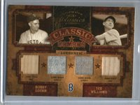 Ted Williams-Bobby Doerr 2004 Donruss Classics Game Used Jersey-Bat #13/15