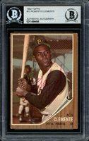Roberto Clemente Autographed 1962 Topps Card #10 Pittsburgh Pirates Vintage Beckett BAS #11484494Roberto Clemente Autographed 1962 Topps Card #10 Pittsburgh Pirates Vintage Beckett BAS #11484494