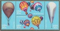 2032-5 20c Balloons F-VF Mint NH 4 singles[2032sing]