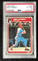 1985 Fleer Mike Schmidt #265 Baseball Card Philadelphia Phillies PSA 6 EX-MT