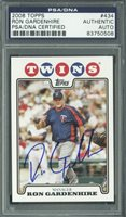 Twins Ron Gardenhire Signed Card 2008 Topps #434 PSA/DNA Slabbed #83750508
