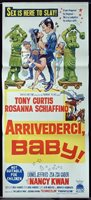 ARRIVEDERCI BABY Drop Dead Darling Daybill Movie Poster Tony Curtis