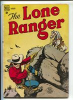 Lone Ranger #7 1949- Dell-Tonto and Silver appear-Charles Flanders art-FN | Comic Books - Golden Age, Dell, Lone Ranger