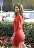 GLOSSY PHOTO PICTURE 8x10 Maria Menounos Fitted Red Suit