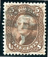 Neat Postmark (U.S. General ; Scott#: 76)
