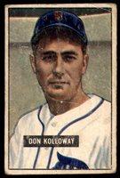 1951 Bowman #105 Don Kolloway Poor 1951 Bowman #105 Don Kolloway Poor