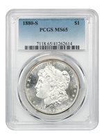 1880-S $1 MS65 PCGS