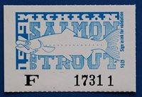 U.S. (MITS12) 1979 Michigan Trout & Salmon Fishing Stamp (MNH)