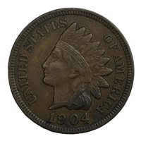 1904 1C Indian Head Cent XF #