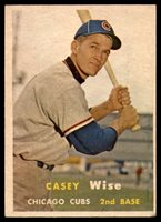 1957 Topps #396 Casey Wise Very Good RC Rookie1957 Topps #396 Casey Wise Very Good RC Rookie