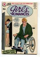 Girls' Romances #150 1970-DC-WHEELCHAIR cover-COMIC BOOK   Comic Books - Silver Age, DC Comics, Rom, Romance