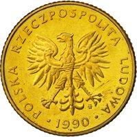 Poland, 10 Zlotych, 1990, Warsaw, MS(60-62), Brass, KM:152.2
