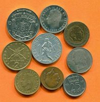 Collection WORLD COINS Mixed Lot Different COUNTRIES and REGIONS #L10125.1.C