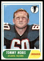 1968 Topps #151 Tommy Nobis Excellent+ ID: 1429851968 Topps #151 Tommy Nobis Excellent+ ID: 142985