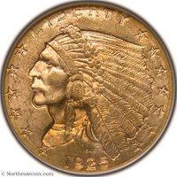 1925-D Gold Quarter Eagle NGC MS63 Gold Quarter Eagle