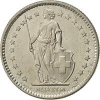 Switzerland, 2 Francs, 1976, Bern, AU(55-58), Copper-nickel, KM:21a.1