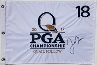 JUSTIN THOMAS SIGNED 2017 PGA CHAMPIONSHIP QUAIL HOLLOW GOLF FLAG PSA/DNA