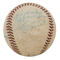 1969 Pittsburgh Pirates Multi-Signed ONL Giles Baseball With 7 Signatures Including Roberto Clemente (PSA/DNA)