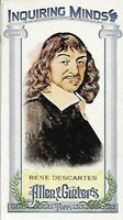 2013 Topps Allen and Ginter Mini Inquiring Minds #RD Rene Descartes - NM-MT