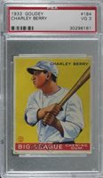 1933 Goudey Big League Chewing Gum R319 Charlie Berry Charley #184 PSA 3 Rookie