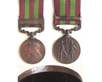 CM0038. INDIA G.S. BRONZE clasp RF 1897-98 - Lalji 13th Bt Lcrs.