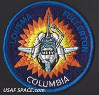 STS 3 LION BROTHERS VINTAGE ORIGINAL NASA SHUTTLE CLOTH BACK SPACE PATCH - NOS