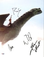 Pete's Dragon (Wes Bentley, David Lowery, +2) Signed 11X14 Photo PSA/DNA AB10796