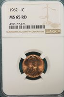 1962-P NGC MS65 RED Lincoln Memorial Cent!!! #A6740