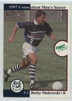 1997 Connecticut Huskies Team Issue #2 Rocky Niedrowski UConn Soccer Card