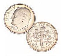 1988 S Us Mint Roosevelt Proof 10 Cent Dime Coin