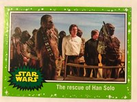 2017 Star Wars Journey to the Last Jedi #70 The Rescue of Han Solo GREEN