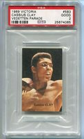 1969 Victoria Vedetten Parade 583 Cassius Clay Muhammad Ali PSA 2 NQ boxing card