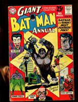 BATMAN GIANT ANNUAL#3 (4.5) JOKER COVER! BATMAN AND ROBIN'S MOST FANTASTIC FOES!