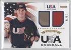 Keegan Thompson #26/75 (Baseball Card) 2012 Panini USA Baseball National Team 18U National Team Dual Jerseys #18
