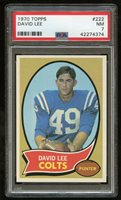 1970 Topps #222 David Lee *Colts* PSA 7 NM #42274374