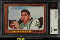 1966 Topps Football Joe Namath #96 BVG 8 NM-MT (PWCC)