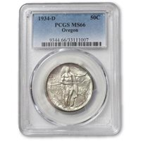 1934 D Oregon Half Dollar PCGS MS66 ***Rev Tye's Coin Stache*** #1007