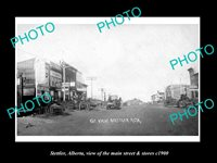 OLD LARGE HISTORIC PHOTO OF STETTLER ALBERTA THE MAIN STREET & STORES c1900