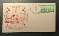 1941 USS Gunnel Keel Laying Submarine Navy Cover Ship Cancel
