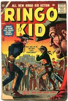 RINGO KID-#20-JOE MANEELY ART-RARE ATLAS WESTERN COMIC- VG