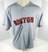 1990s Boston Red Sox Blank Authentic Grey Jersey Russell Athletic 52 DP08037