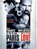 Poster 15 11/16x23 5/8in From Paris With Love (2010) Luc Besson - John Travolta
