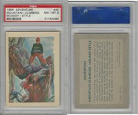 R749 Gum Products, Adventure, 1956, #40 Mountain-Climbing, Monkey, PSA 8 NMMT