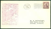 SCOTT # 725 FDC, C of C RUBBER STAMP, TYPED ADDRESS, EXETER, NH, GREAT PRICE!