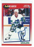 Mark Hunter Signed 1991/92 Score Canadian Card #156