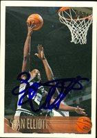 Sean Elliott autographed Basketball Card (San Antonio Spurs) 1996 Topps #107