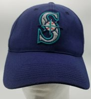 Vintage Seattle Mariners Snapback Hat OS Blue MLB Embroidery Outdoor Cap 90s
