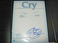 FAITH HILL SIGNED AUTOGRAPHED SHEET MUSIC CRY COUNTRY SUPERSTAR TIM McGraw RARE