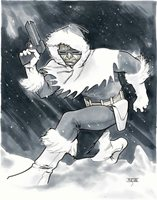 Captain Cold by Mahmud Asrar Original Art Commission Sketch 11x14